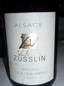 Riesling « Clos Liebenberg » 2002  Zusslin